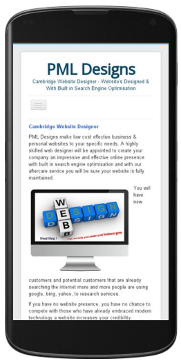 Cambridge Website Designer mobile friendly websites